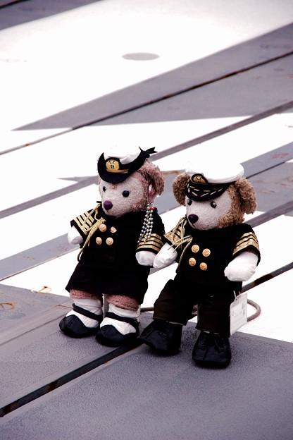 護衛艦に乗っていた海上自衛官ダッフィー。。横須賀基地一般公開10月10