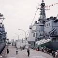Photos: 続いて乗船する護衛艦てるづきへ。。吉倉桟橋10月10日