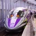 エヴァぽい顔のJR西日本500系。。小倉駅11月21日