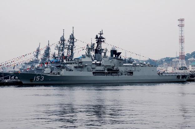 軍港めぐりから見えるオーストラリア海軍スチュアート。。吉倉桟橋 観艦式前日一般公開10月17日