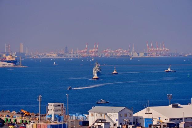 オーストラリア海軍スチュアート。。観艦式終えて戻る。。10月18日
