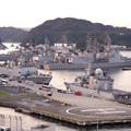 観艦式終えて。。夕暮れの横須賀基地。。また賑わう10月18日