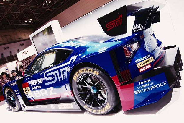 どデカイウィング。。superGT参戦車SUBARU BRZ。。東京モーターショー2015 11月1日