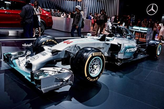 メルセデスAMGペトロナス F1。。2014モデル。。東京モーターショー2015 11月1日
