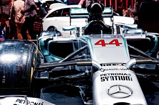 正面のモノコック。。メルセデスAMGペトロナス F1。。2014モデル。。東京モーターショー2015 11月1日