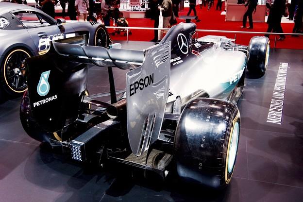 メルセデスAMG F1。。2014モデルの背後。。東京モーターショー2015 11月1日