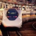 朝の日の出前の小倉駅 新幹線ホームにて新大阪行レールスター700系・・20151121