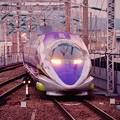 Photos: エヴァゲリオン仕様500系新幹線・・小倉駅へ 20151121