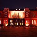 ライトアップされた旧門司税関建屋。。門司港20151121