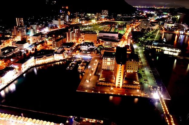 門司港の夜の町並みを展望室から。。20151121