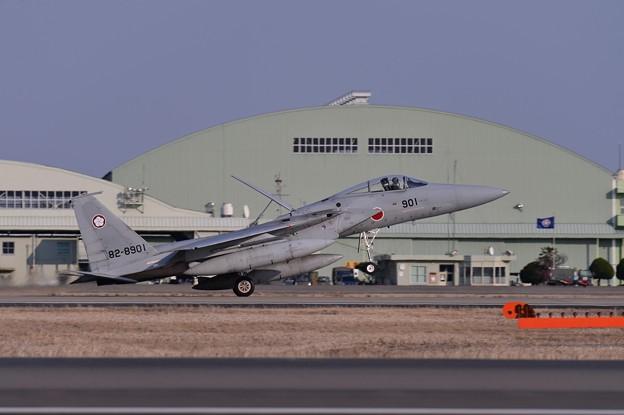 百里基地帰投した第305飛行隊梅組F-15ランディング・・20150313