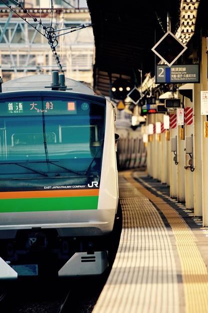 横須賀線保土ヶ谷駅を通過。。湘南新宿ラインE233系。。20151129