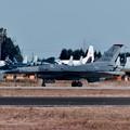 写真: 新田原基地航空祭予行。。無事に終えて米空軍F-16。。