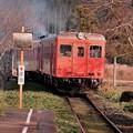 力強いディーゼル列車。。いすみ鉄道急行 キハ52。。20151220