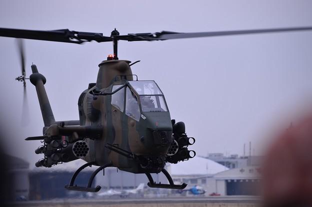 小牧基地オープンベース。。陸上自衛隊攻撃ヘリ AH-1Sコブラ・・帰投へ 20150315