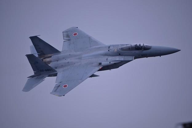 小牧基地オープンベース。。F-15テイクオフ 機体振って挨拶1・・20150315