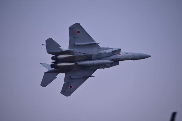 小牧基地オープンベース。。F-15テイクオフ 機体振って挨拶2・・20150315