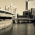 昼下がりの横浜の町。。都橋商店街と大岡川。。20160207