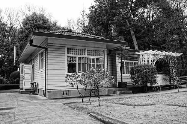 モノクロの風景。。昔の田園調布の家。。20160313