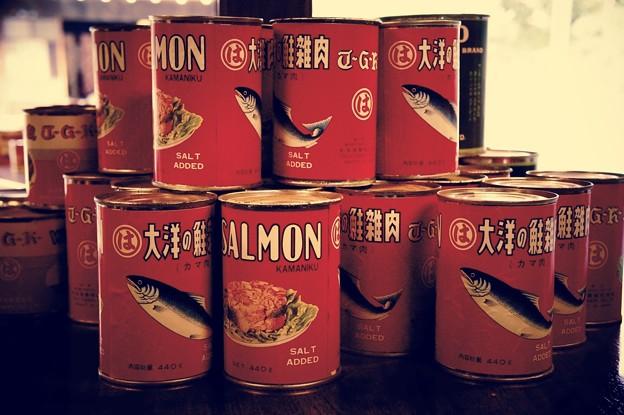 懐かしいカマ肉缶。。マルハ。。江戸東京たてもの園 20160313