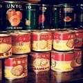 Photos: よく食べた記憶の。。桃缶と貝の缶詰め。。江戸東京たてもの園 20160313