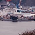 横須賀の町から見える海上自衛隊の潜水艦たち。。20160320