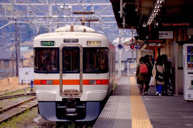 御殿場線松田駅のホーム風景。。20160402