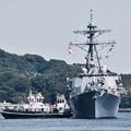 撮って出し。。朝の入港したのは米海軍駆逐艦ジョンSマケインが接岸へ。。5月15日