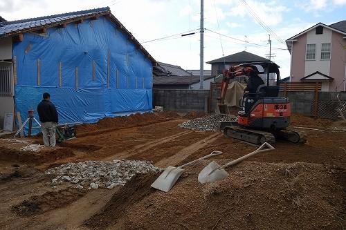 写真: 岸和田市・基礎着手1