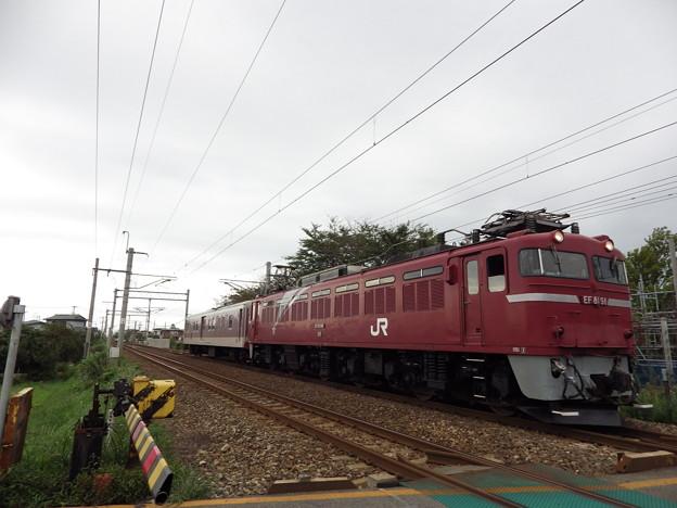 EF81‐98牽引 マニ50‐2186配給