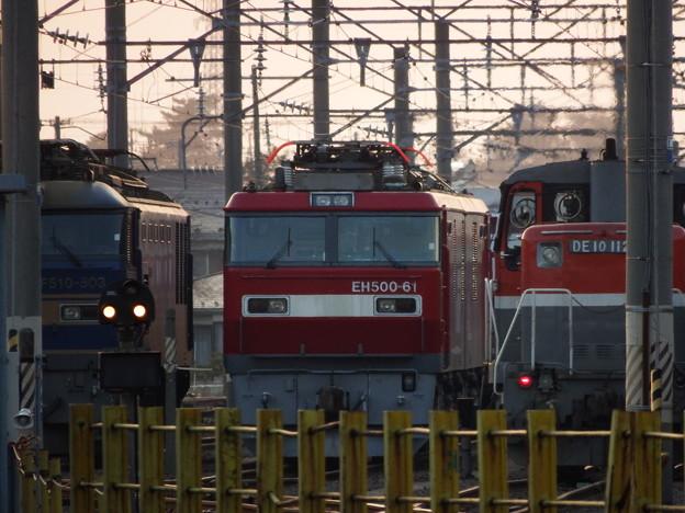 秋田貨物駅の3並び