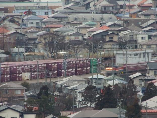 秋田貨物駅に入線する956レ