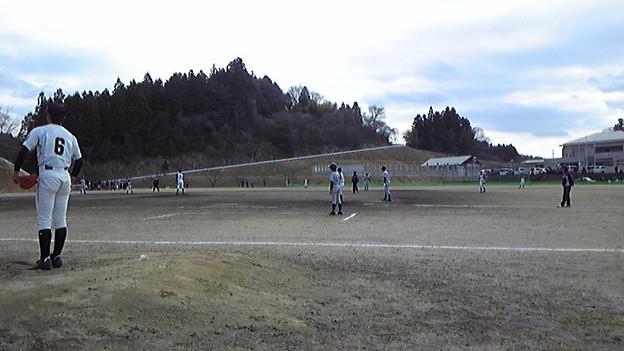 朝6:30集合で玉川村へ中学校野球部送迎。クリーンヒットは打たれてない...