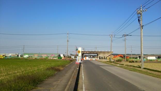 写真: 新4号国道、道の駅ごか近くの立体交差撤去状況は?その2