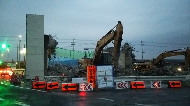 国道4号バイパス(新4号国道)4車線化・道の駅ごか付近の様子