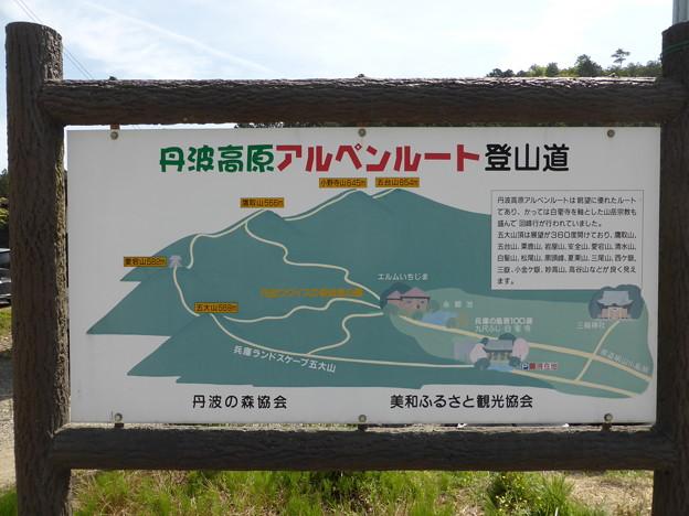 丹波高原アルペンルートのマップ