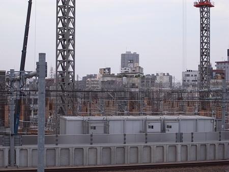 建設中のブランズタワー南千住(2008/9)