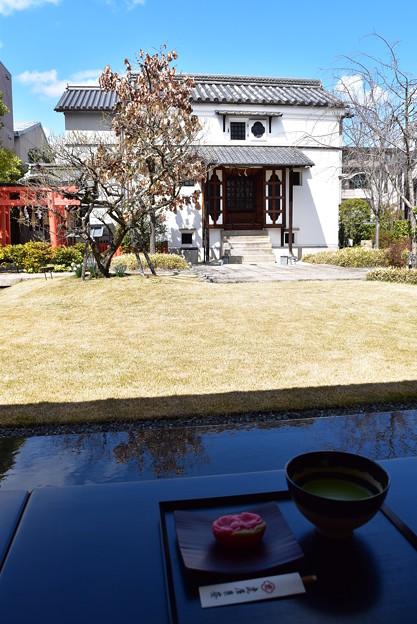 手折桜とお抹茶@虎屋菓寮 京都一条店