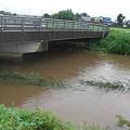 写真: 橋の下1.5m位まで水位が上がったみたいですね(^^ゞ