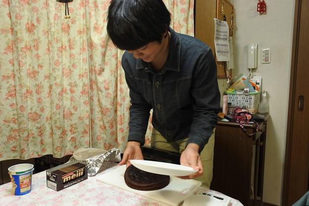 次男がガトーショコラを作ってくれた