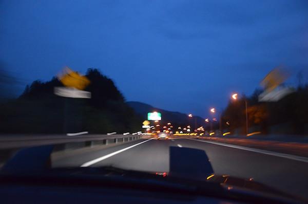 磐越自動車道を走り