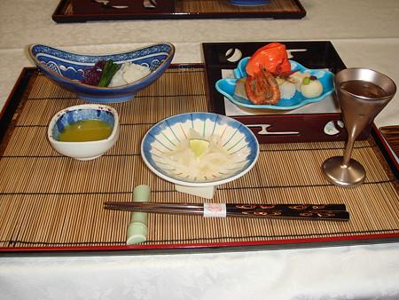 雲仙宮崎旅館の夕食(1)