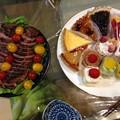 写真: 誕生日ご飯