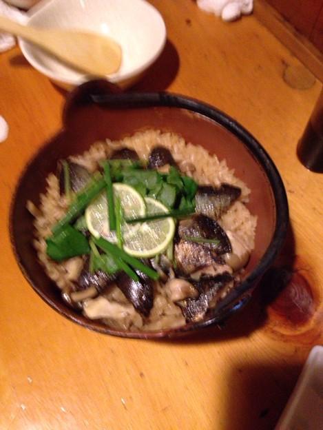 写真: サンマ炊き込みご飯。美味