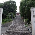 写真: 伊佐爾波神社の石段