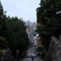 写真: 石段と松山市街