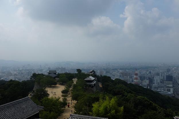 松山城と松山市街