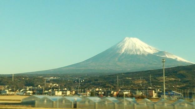 冠雪の富士山