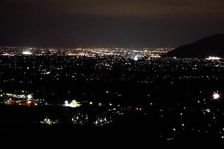 甲府盆地、夜景
