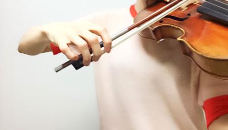 中野・江古田 バイオリン 個人レッスン ヴィオラ 吉瀬弥恵子 ワイズ音楽教室   重音を弾く時の形